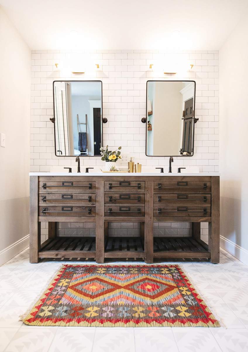 Bathroom renovation interior design by Monika Normand Photography