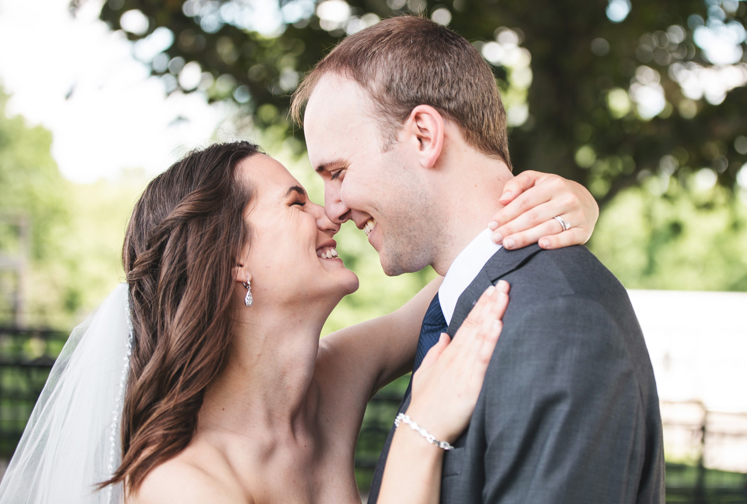 bride and groom noses by Monika Normand Photography