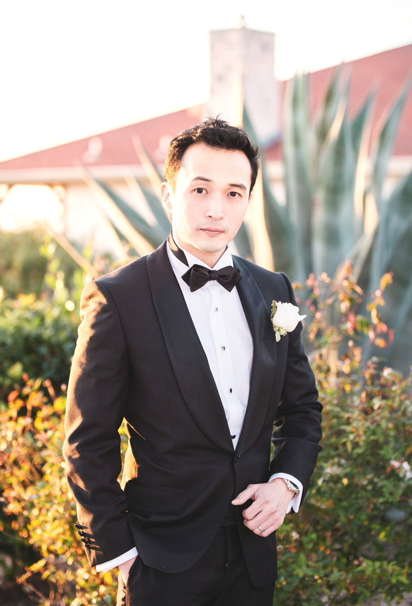 Austin Texas groom with bowtie by Monika Normand Photography