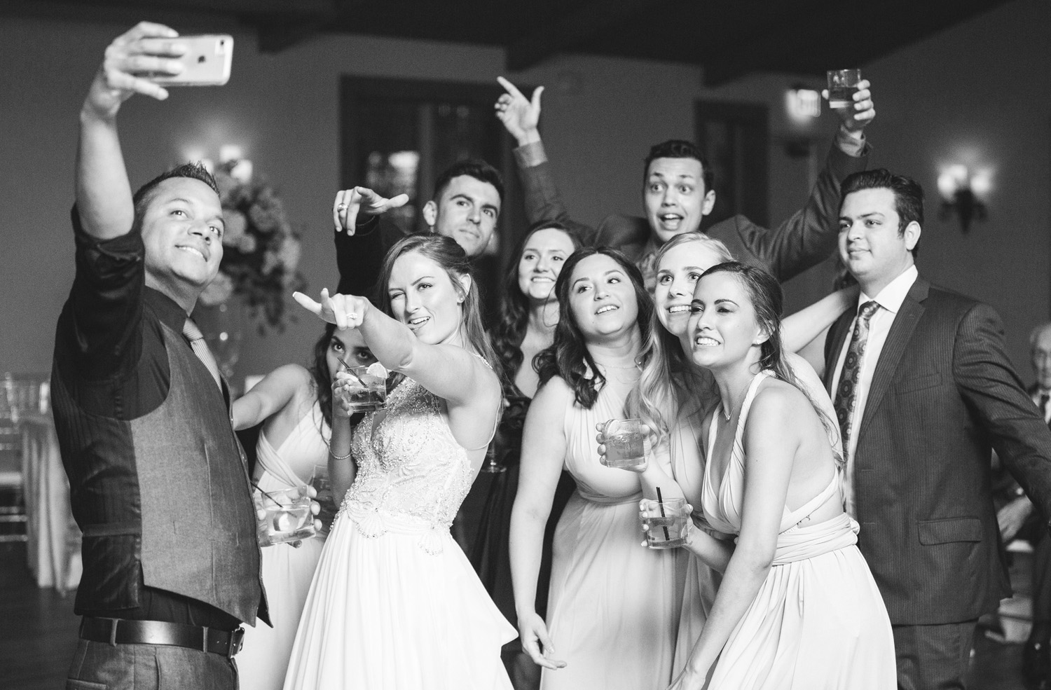 DFW wedding party reception by Monika Normand Photography